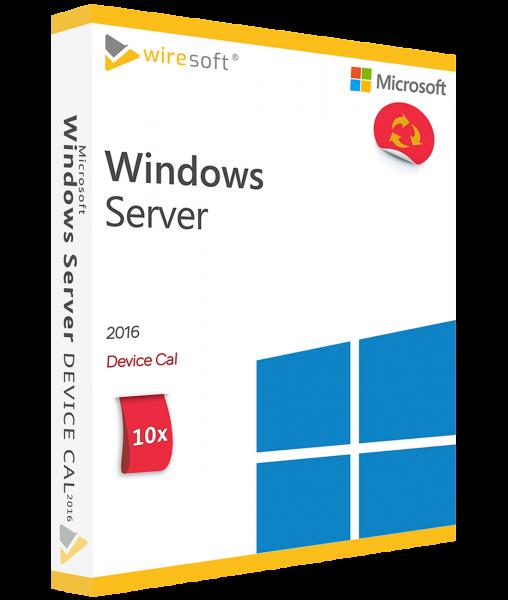 MICROSOFT WINDOWS SERVER 2016 - 10 PACK DEVICE CAL