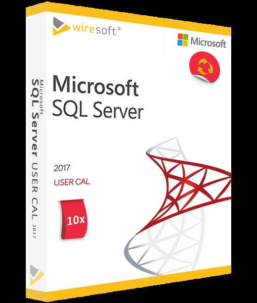 MICROSOFT SQL SERVER 2017 - 10 PACK USER CAL
