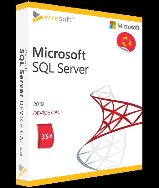 MICROSOFT SQL SERVER 2019 - 25 PACK DEVICE CAL
