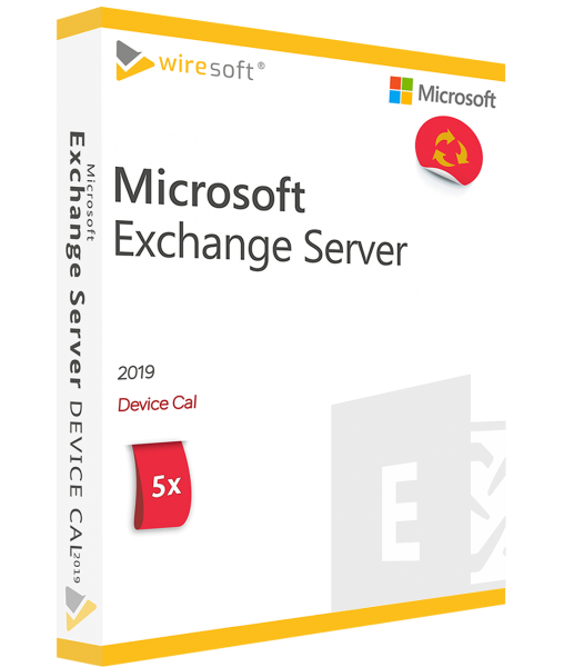 MICROSOFT EXCHANGE SERVER 2019 - 5 PACK DEVICE CAL