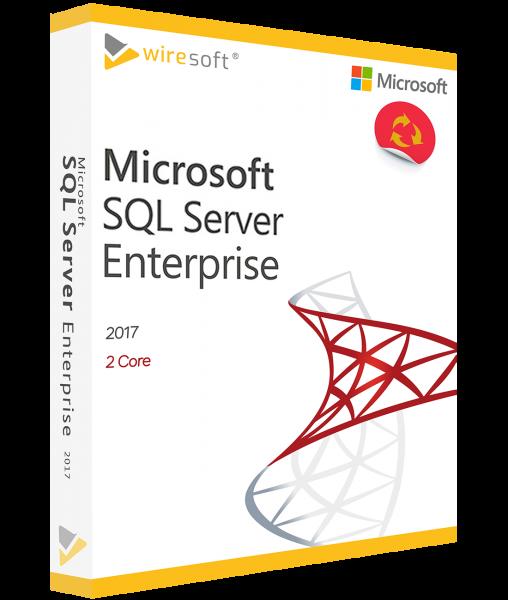 MICROSOFT SQL SERVER 2017 ENTERPRISE 2-CORE